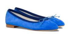 ballerine blu elettrico in camoscio
