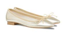 ballerine oro e platino in laminato