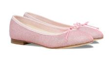 ballerine rosa in tessuto a punta tonda