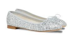 ballerine glitter argento a punta tonda
