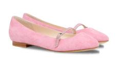 ballerine rosa camoscio punta tonda