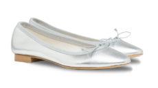 ballerine argento laminato a punta